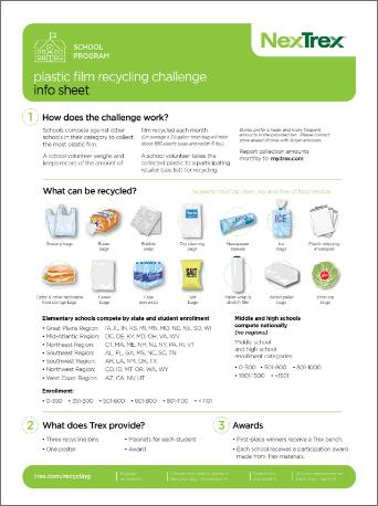 School Program Film Recycling Challenge Information Sheet